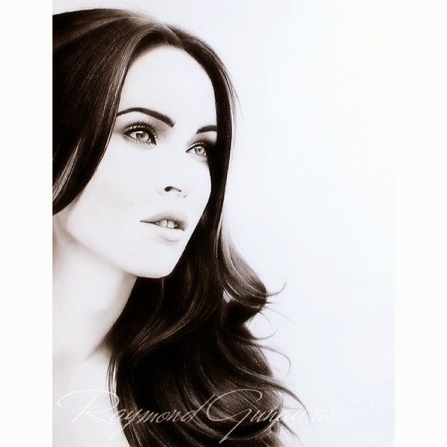 12-Megan-Fox-Raymond-Gunawan-Minimalist-Celebrity-Drawings-mostly-Black-and-White-www-designstack-co