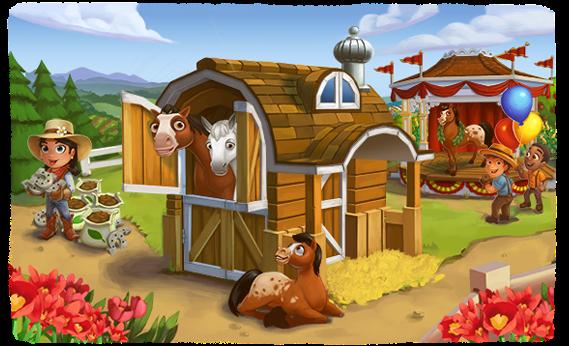 Pokrafarm farmville 2 cruce de caballos for Farmville horse