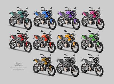 PULSAR 200 NS - colores