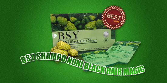 BSY Shampo Noni Blakc Hair Magic