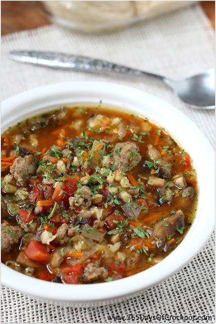Slow Cooker Turkey Sausage Barley And Mushroom Soup