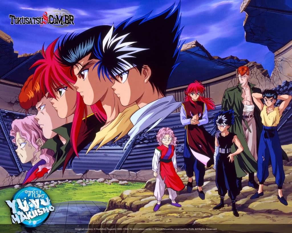 Imagem dos personagens de Yu Yu Hakusho