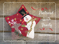 Postcard With Frosty Punch Needle Pattern $7.00