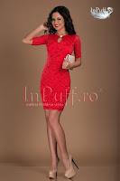 Rochie eleganta dantela rosie (Tiffani)