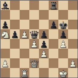 Partida de ajedrez Álvarez - Pérez, posición después de 36.Dd2?
