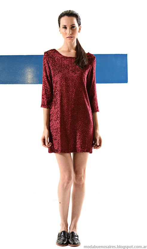 Vestidos cortos invierno 2014 moda mujer Mancini.