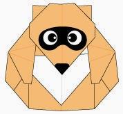 Bước 17: Vẽ mắt, mũi để hoàn thành cách xếp con chồn bằng giấy theo phong cách origami.