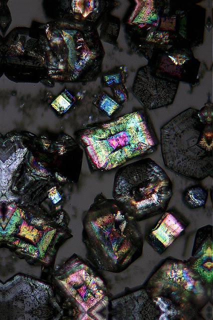 Bismuth Subnitrate under the microscope
