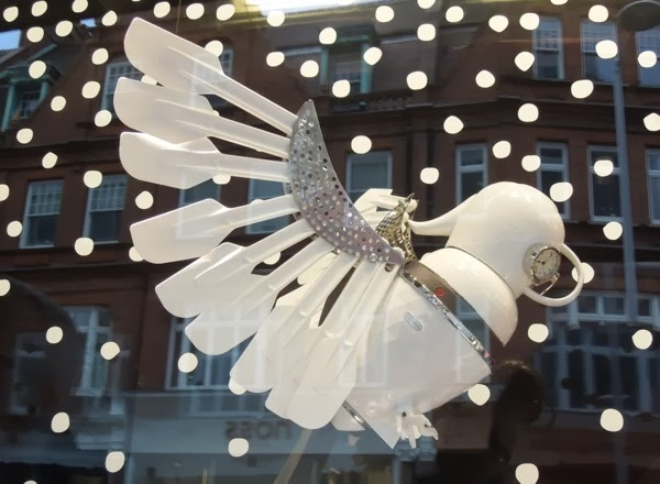 Peter Jones Christmas window display owl
