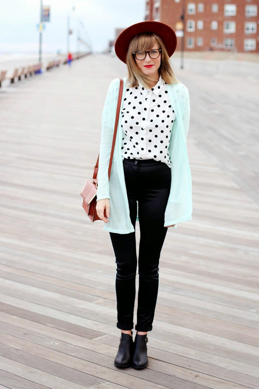 h&m high waist pants, long beach boardwalk, h&m fall campaign, nyc vintage fashion blog