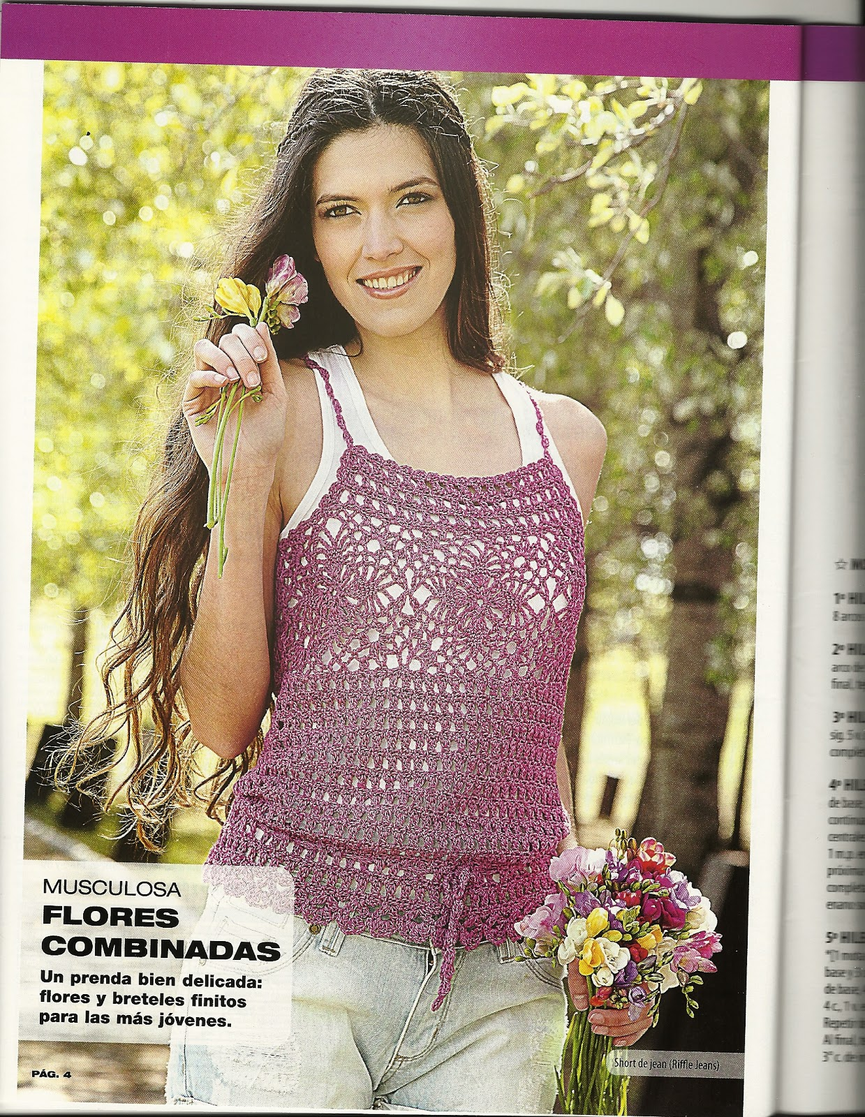 Blusa Flores combinadas~   ~ Crochet Style ~