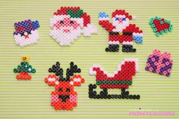 Adornos de navidad con perlas hama patrones para - Plantillas adornos navidenos ...