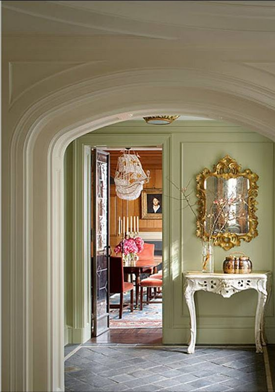 Dining Rooms Paintd Green | Decoration Empire