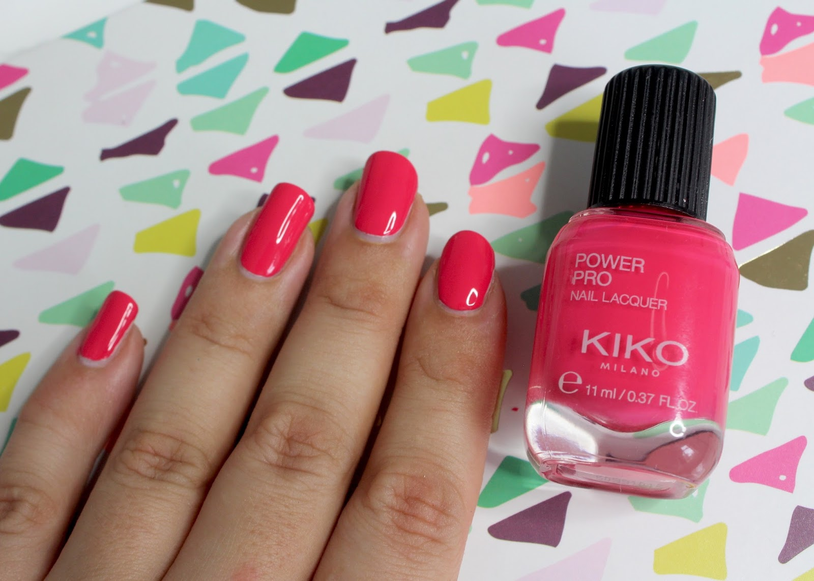 KIKO power pro nail lacquer in red, camelia and fuchsia - review and ...