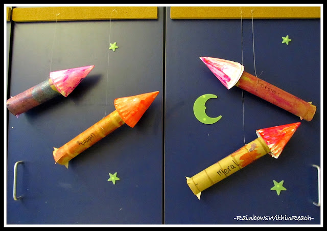Rocket Ships from UPcycled Materials on RainbowsWithinReach