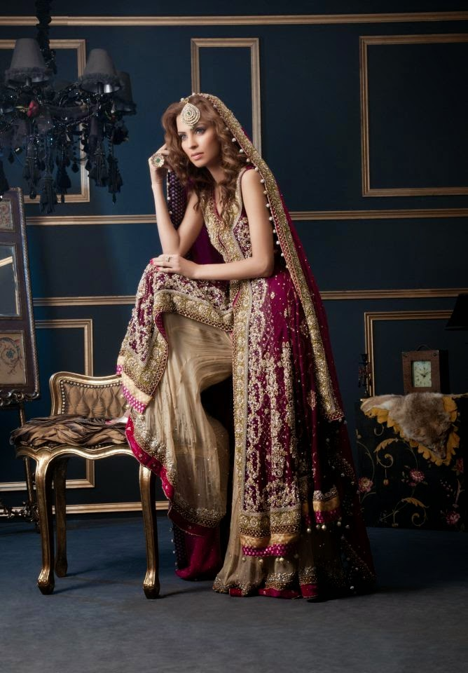 New pakistani bridal dress 2015 just bridal for Online pakistani wedding dresses