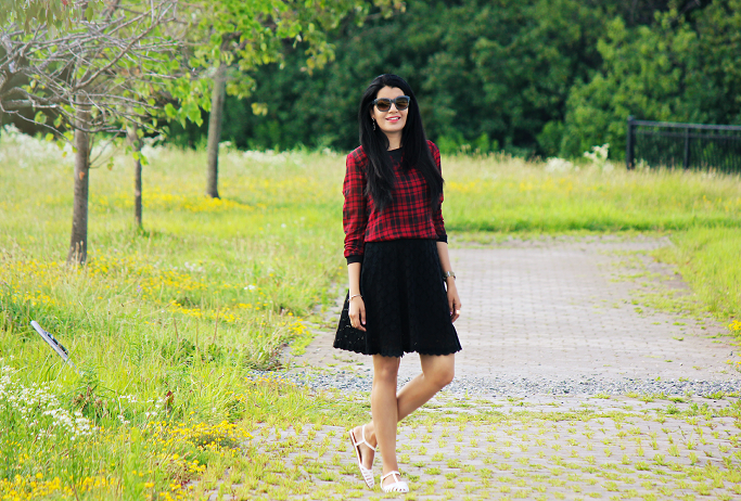 #SearsStyleFind, Plaid Looks For Summer, How To Style A Plaid Blouse, Plaid Looks