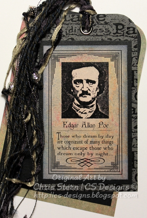 Edgar Allan Poe Montage Digital Stamp Art Tag