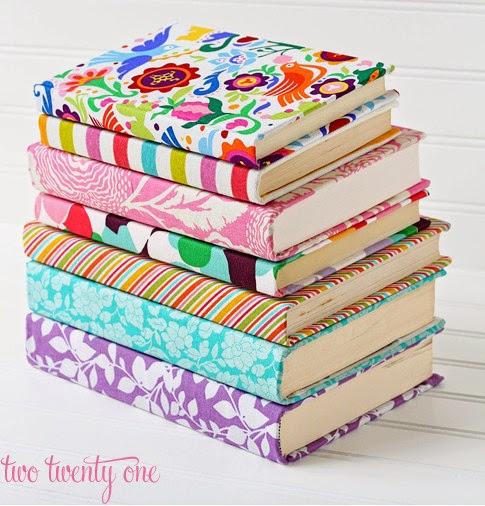como hacer estuche de tela para proteger libros o cuadernos