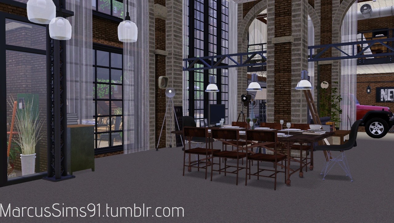 My Sims 3 Blog Industrial Loft Furnished Amp Unfurnished By