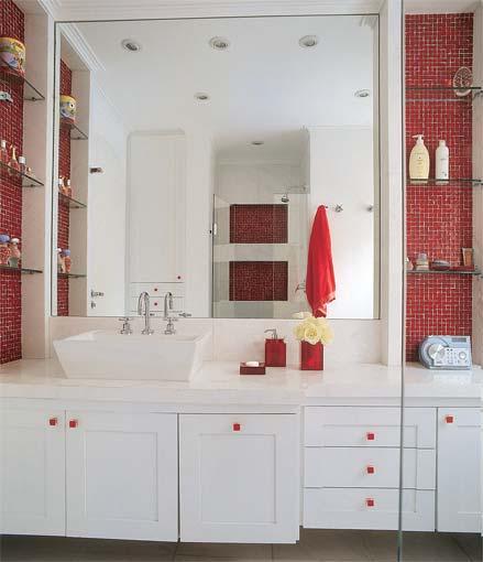 Casa da Anita Nichos em banheiros -> Banheiro Pequeno Decorado De Vermelho