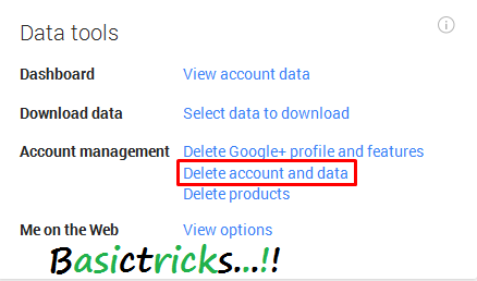 how to get a gmail account deleted