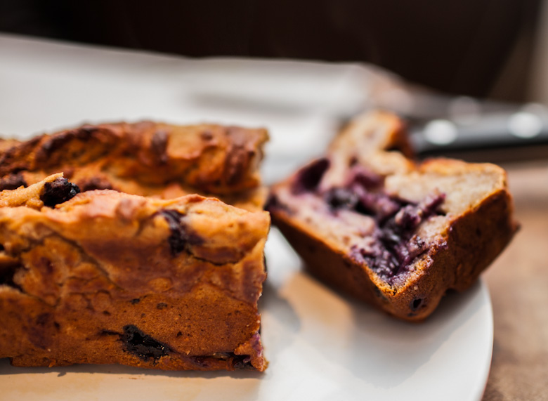 blueberry honey yoghurt cake with gooey, puddingy insides and a thick ...
