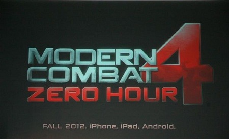 MODERN COMBAT 4: ZERO HOUR