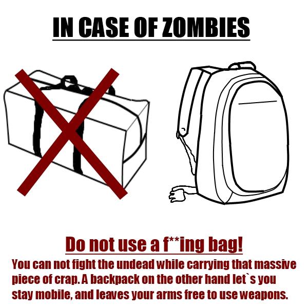 In Case Of Zombie - Starter Tips