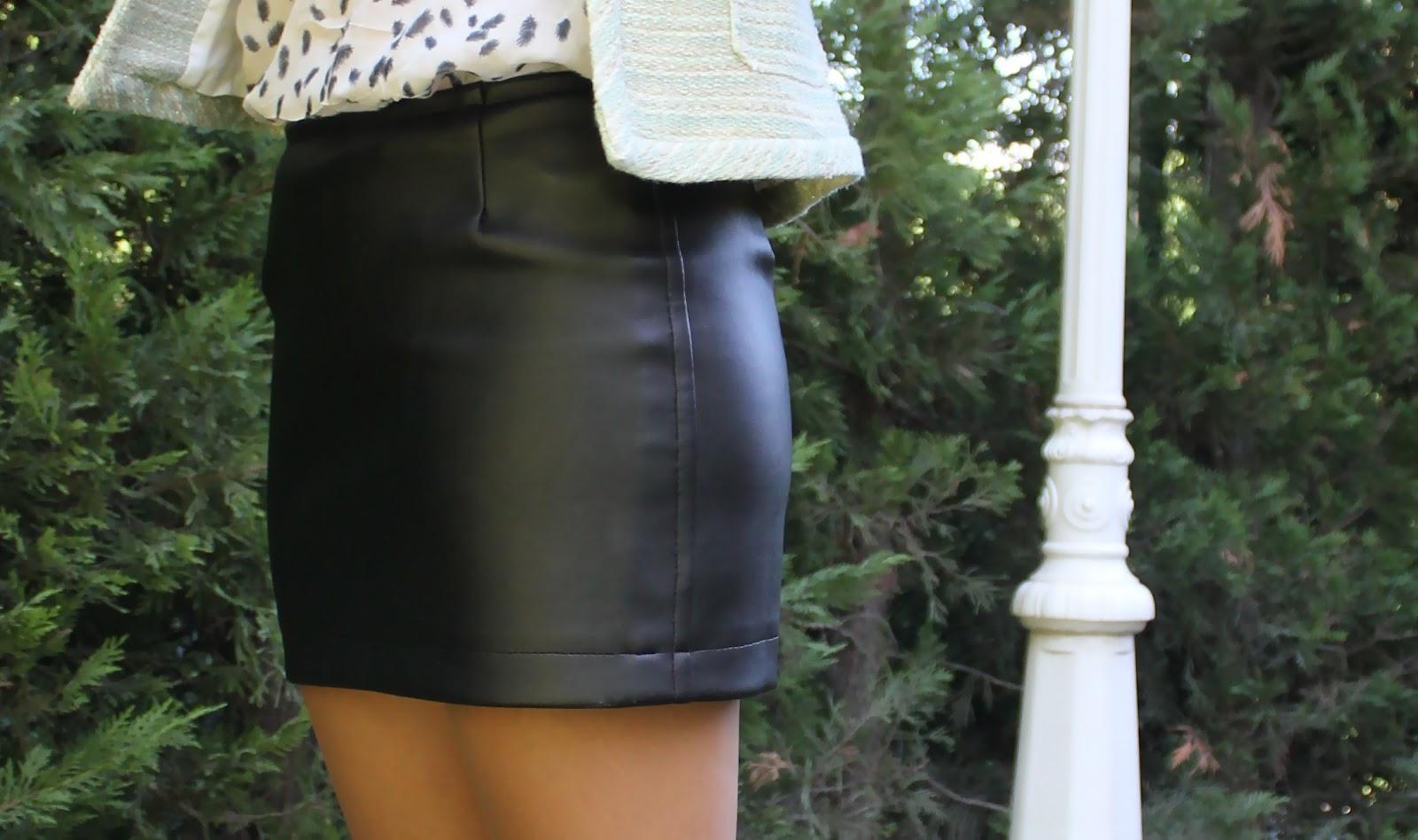 Como hacer una falda recta de cuero | Manualidades