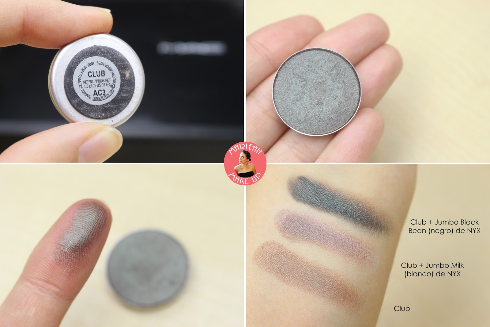 sombras eyeshadow MAC club nyx milk black bean makeup palette godet