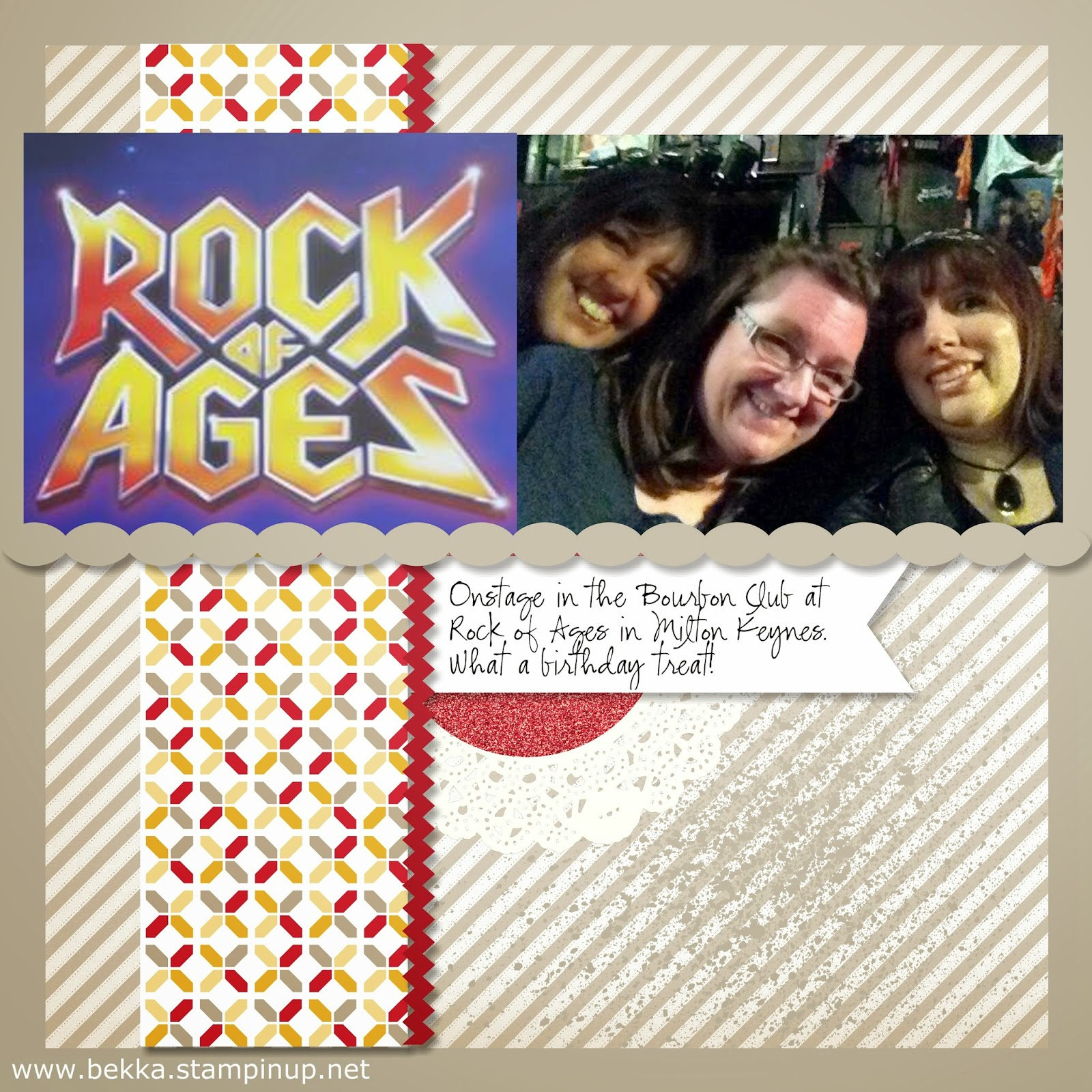 On Stage at the Rock Of Ages Tour!  Digital Scrapbook Page