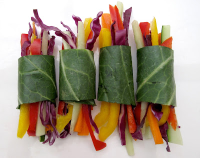 Veggie Wraps with Thai Coconut, Lime, and Cilantro Dressing