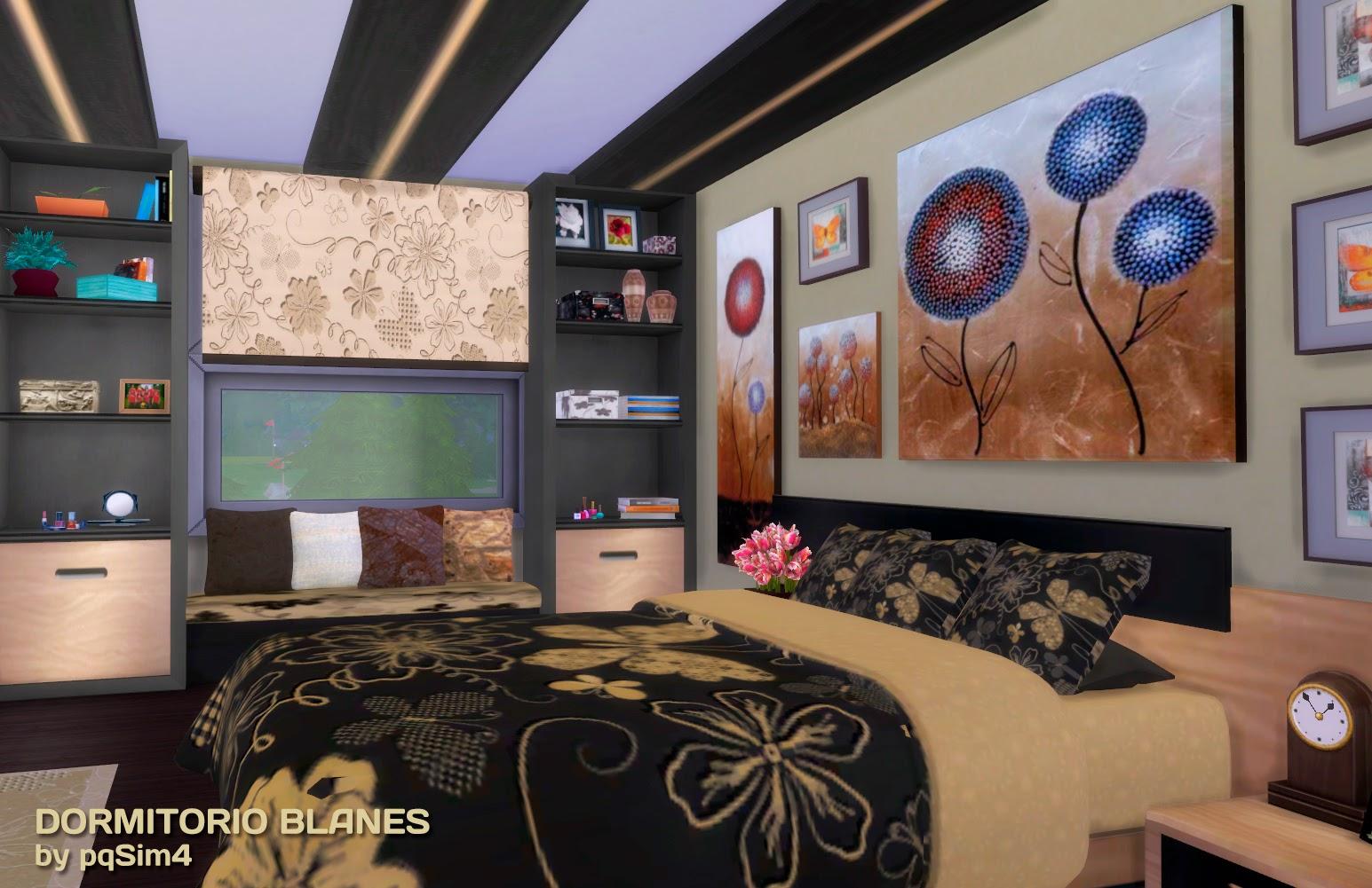 Sims 4 dormitorio blanes for Dormitorio sims 4