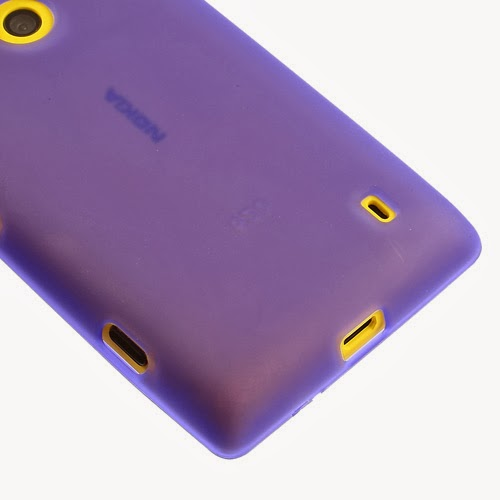Matte Flexible TPU Jelly Case for Nokia Lumia 520 525 - Purple Transparant
