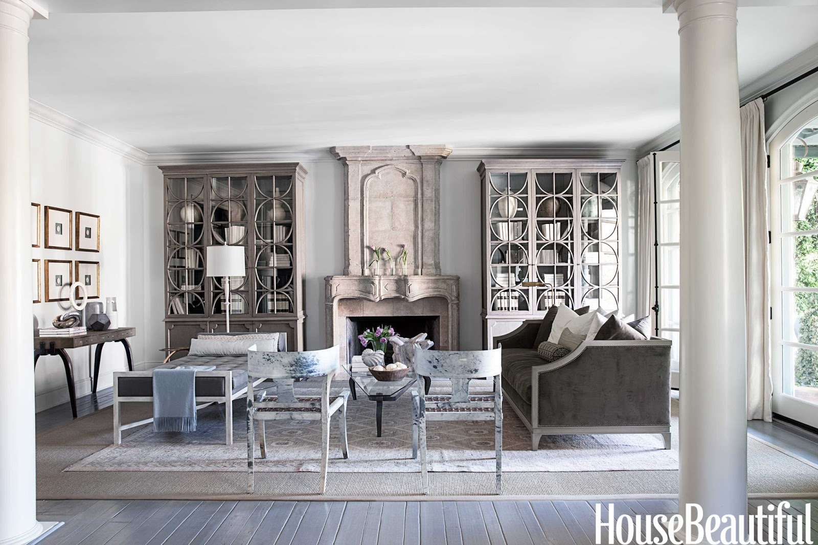 Designer mary mcdonald cleanses the color palette house for Beautiful living room interior designs