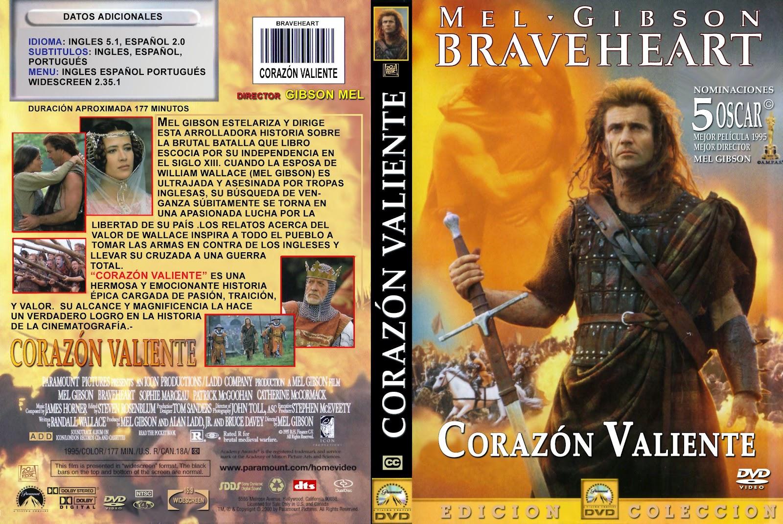 Peliculas dvd full corazon valiente braveheart Corazon valiente pelicula