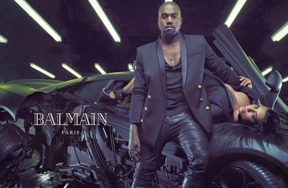 Kim Kardashian and Kanye West Cover Balmain Paris