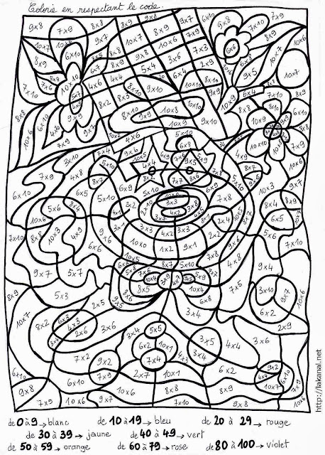 coloriage magique multiplication cm1 - Coloriage de cm1 addition soustraction multiplication et