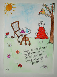 Se mine akvareller/tegninger med postive budskaber - klik på billedet