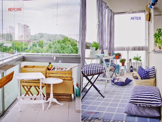 Antes y despu s low cost de un balc n cerrado la - Balcones cerrados ...