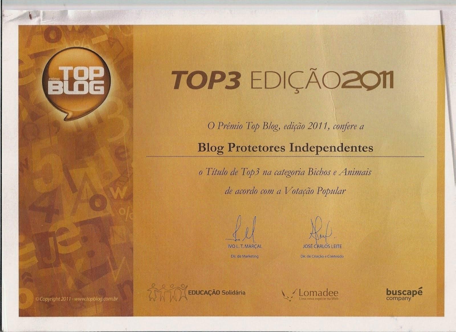 TOP3 EDIÇÃO 2011
