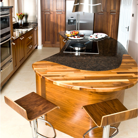 unique fine furniture kitchen island solid wood and granite countertops