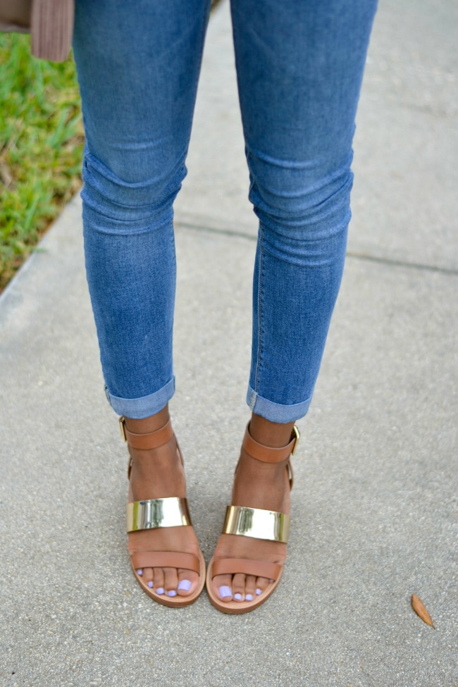 Sandals & Cropped Denim | Summer Outfit Ideas