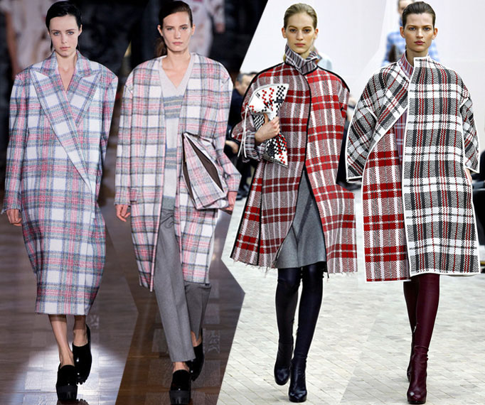 Fall-Winter 2013_Celine_Stella McCartney_plaid coats