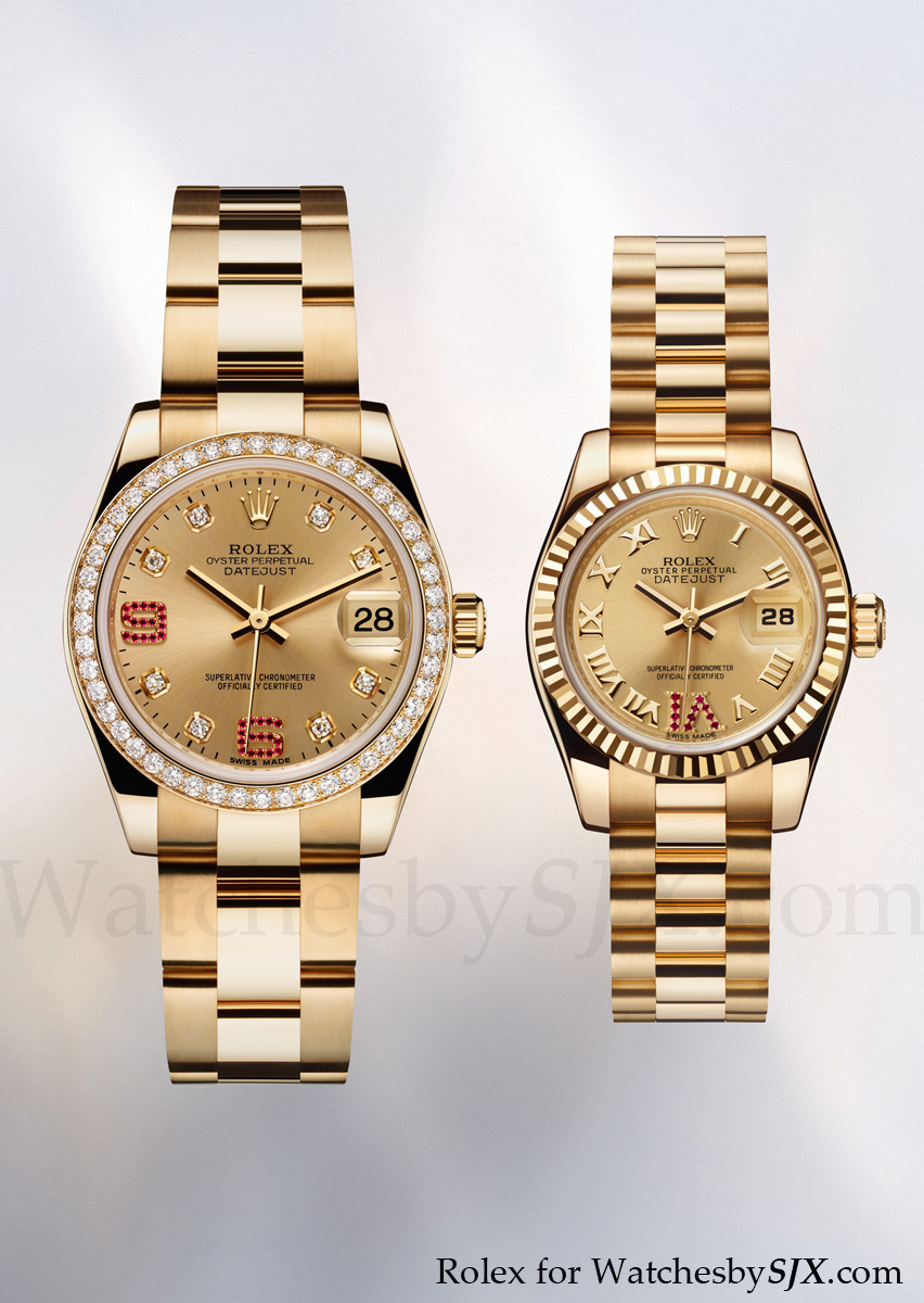 Watches by sjx rolex bling at baselworld 2012 including the rainbow daytona with pricing for Rolex date just 31
