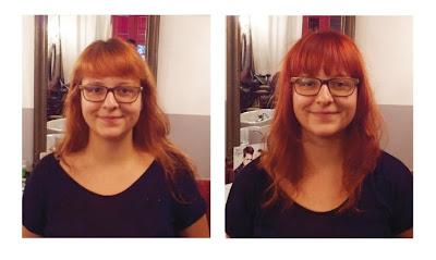 Un avant et après visite au Studio 54, coiffure et couleur réalisées par Eddy, coiffeur - visagiste à Montpellier.