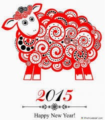 2015 year of the sheep happy new year