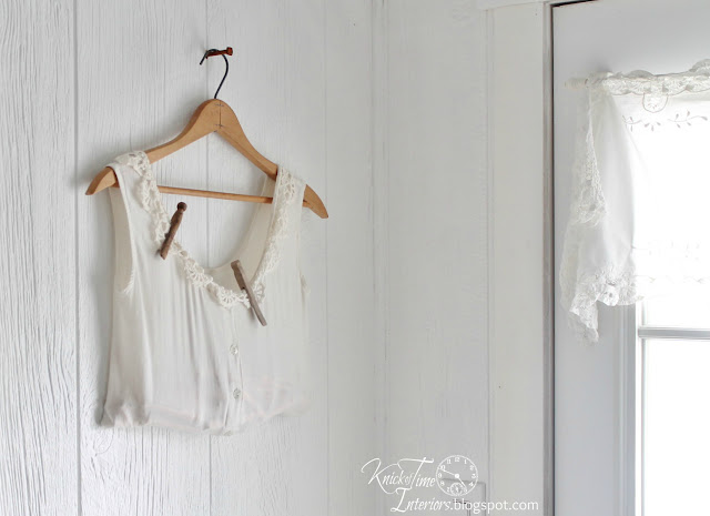 Repurposed Clothing Clothespin Bag Laundry Room Remodel via http://knickoftimeinteriors.blogspot.com/