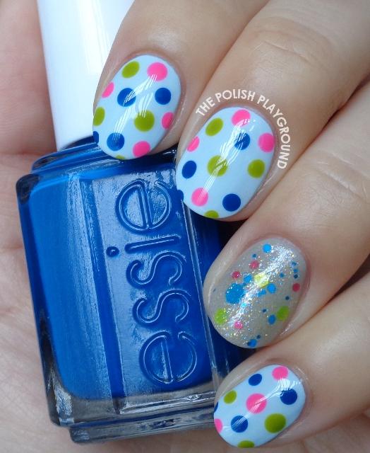 Glitter Polish Inspired Dotticure Nail Art